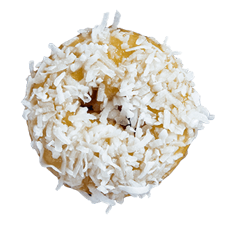 Banana Coconut- hand made donut