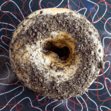 Cookies and Cream - Honey glaze and Oreo crumble donut.