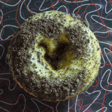 Thin Mint - Mint glaze and Oreo crumble donut.
