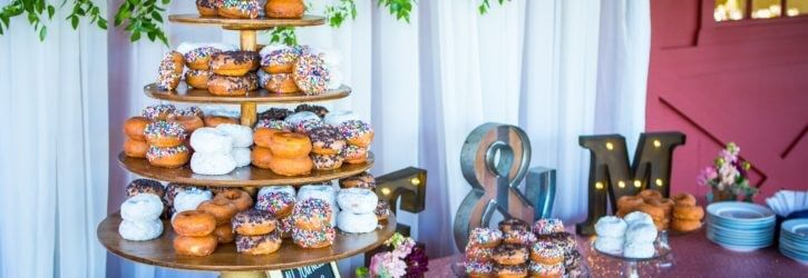 "Wedding Donuts , Saying ""I Do"" with Donuts"